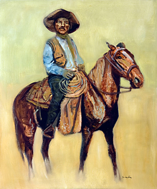 Bill Pickett, Bulldogger ©Santiago Perez - Paintings of the West