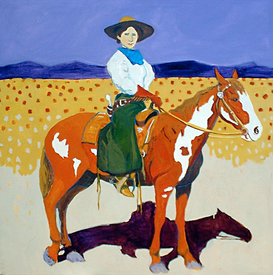 Cowgirl from the 101 ©Santiago Perez - Paintings of the West