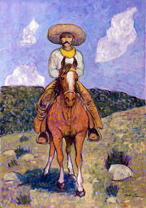 Good Day to Ride ©Santiago Perez - Paintings of the West