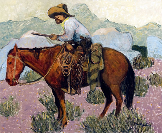 Ranger ©Santiago Perez - Paintings of the West