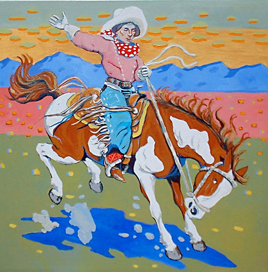She Rode a Wily Pony ©Santiago Perez - Paintings of the West