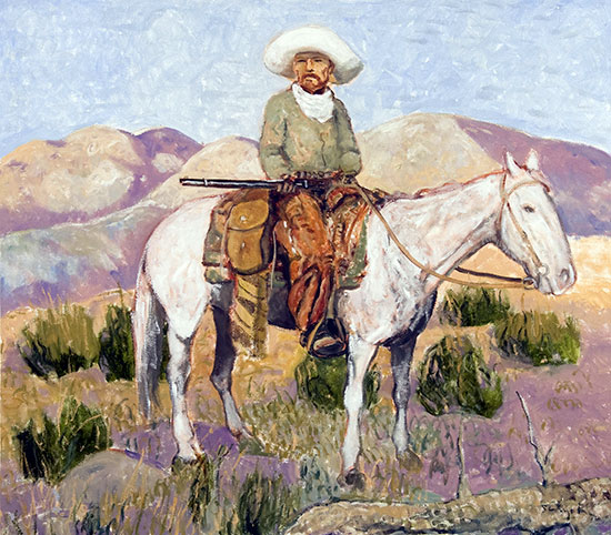 The Line Rider ©Santiago Perez - Paintings of the West